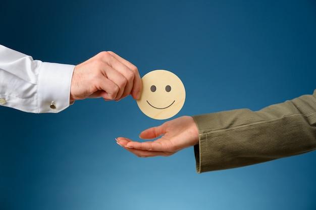 Concetto di soddisfazione del servizio clienti
