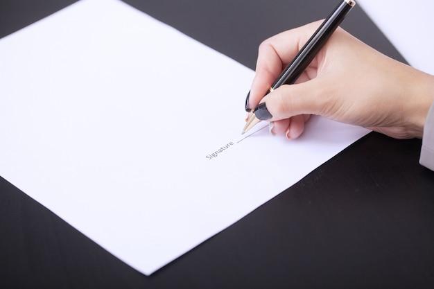 Contratto di firma del cliente, termini concordati e domanda approvata