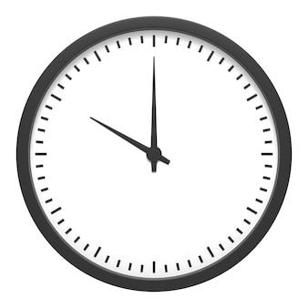 Sveglia classica blu personalizzabile su sfondo blu illustrazione 3d