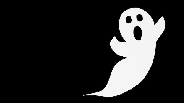 Ritaglia il fantasma di carta sul nero