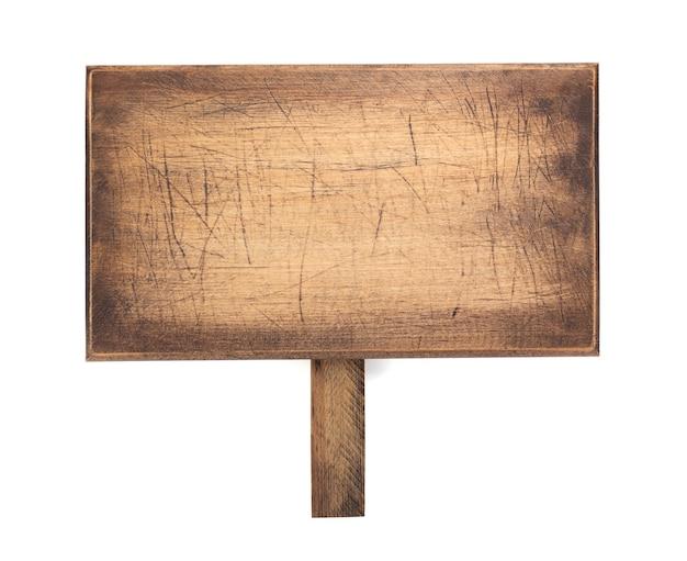 Tagliere o vassoio come cartello isolato su sfondo bianco