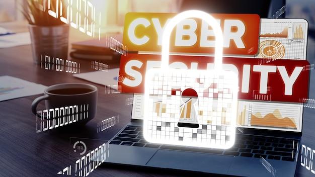 Sicurezza informatica e protezione dei dati digitali concettuali