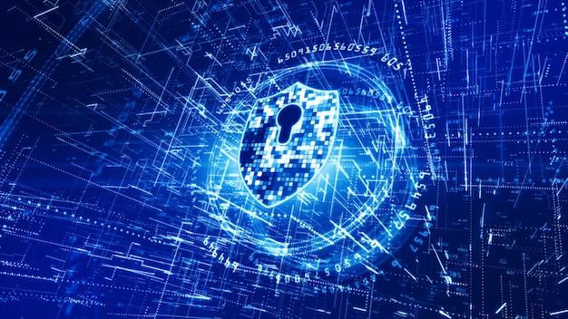 Sfondo di reti di sicurezza informatica