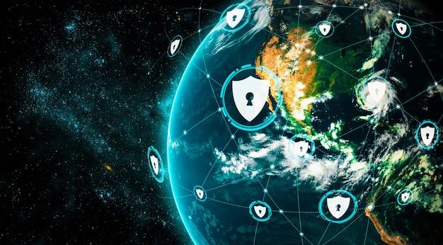 Tecnologia di sicurezza informatica e protezione dei dati online in una percezione innovativa