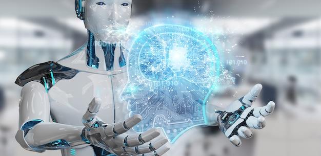 Cyborg che crea intelligenza artificiale