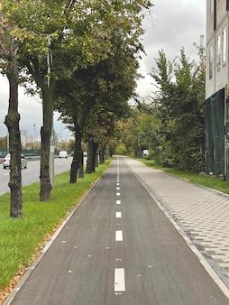 Pista ciclabile in città