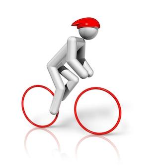 Simbolo di ciclismo su strada 3d