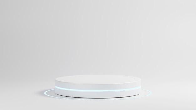 Podio del cilindro per il rendering 3d dell'esposizione del prodotto