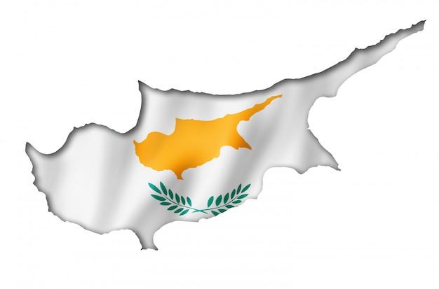 Mappa di bandiera di cipro