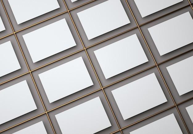 D illustrazione bianco vuoto biglietti da visita modello di progettazione su sfondo nero isolato biglietto da visita per affari e uso personale