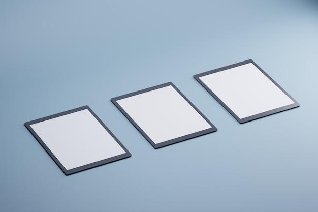 D concetto moderno di prodotto mockup tablet