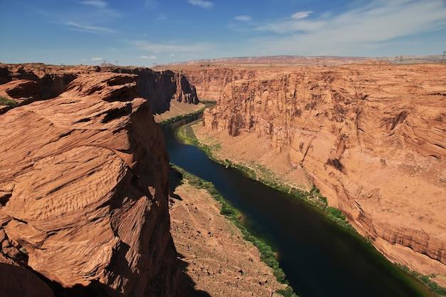 Diga sul fiume colorado in arizona paige usa