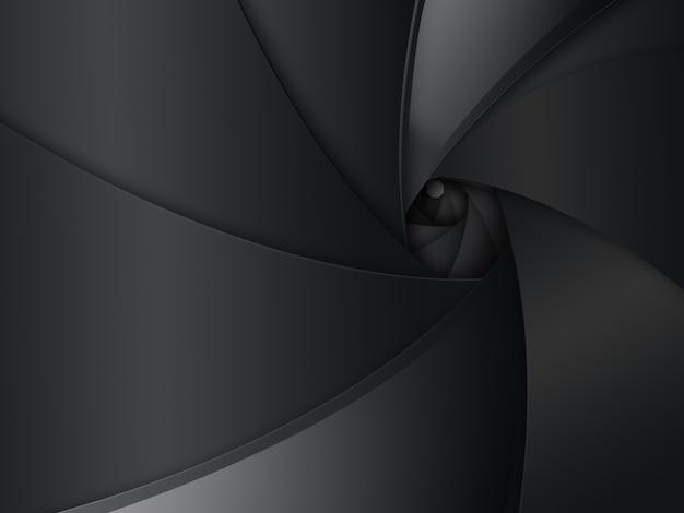 Sfondo astratto scuro a forma di obiettivo della fotocamera