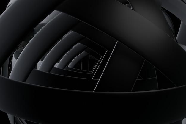 Sfondo scuro sfondo astratto, rendering 3d