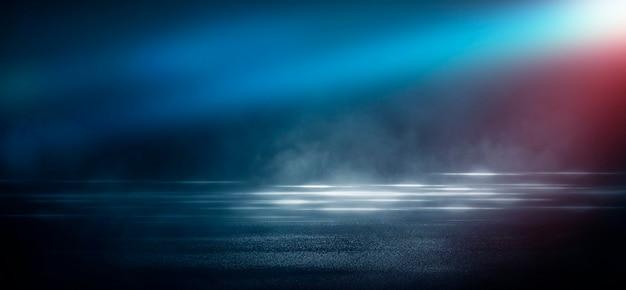 Scena di sfondo scuro della strada vuota