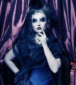 Festa gotica bella scuro princess.halloween.