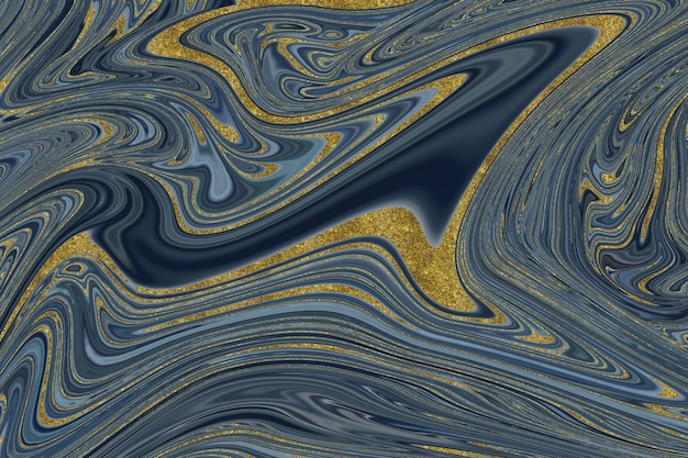 Sfondo astratto marmo blu scuro e oro