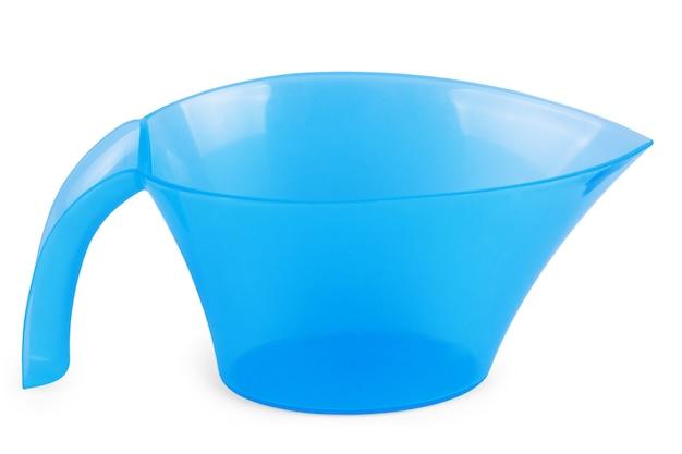 Annaffiatoio di plastica blu scuro per i colori