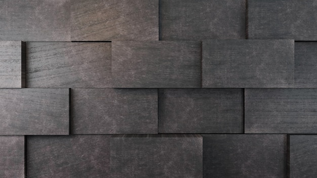 Muro di mattoni di cemento scuro