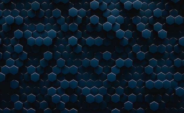 Sfondo astratto esagonale geometrico scuro