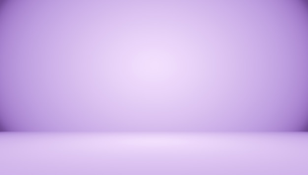 Sfondo sfumato scuro studio camera viola per prodotto.