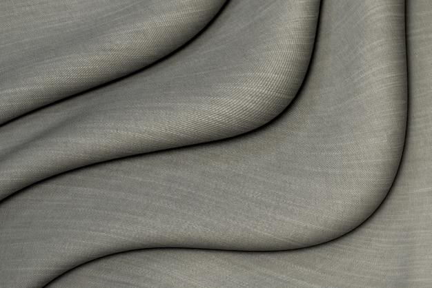 Sfondo tessuto di cotone grigio scuro