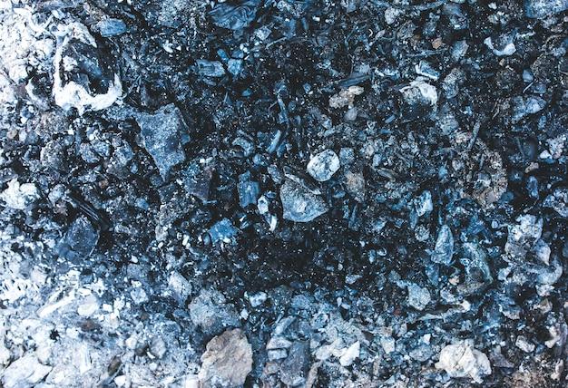 Trama di sfondo carbone cenere grigio scuro e nero.