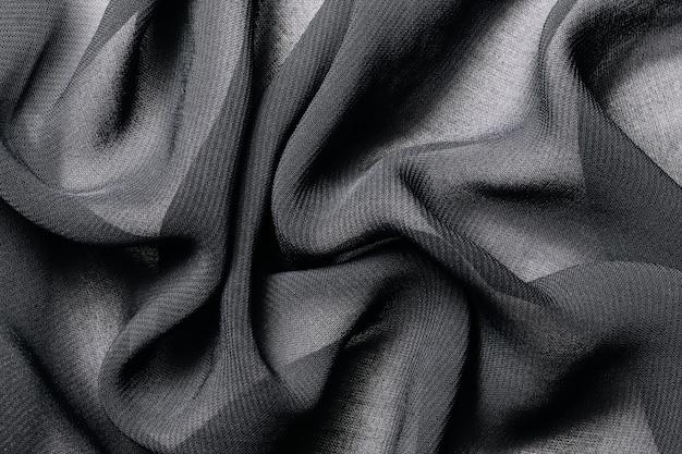 Priorità bassa di struttura del tessuto di panno grigio scuro