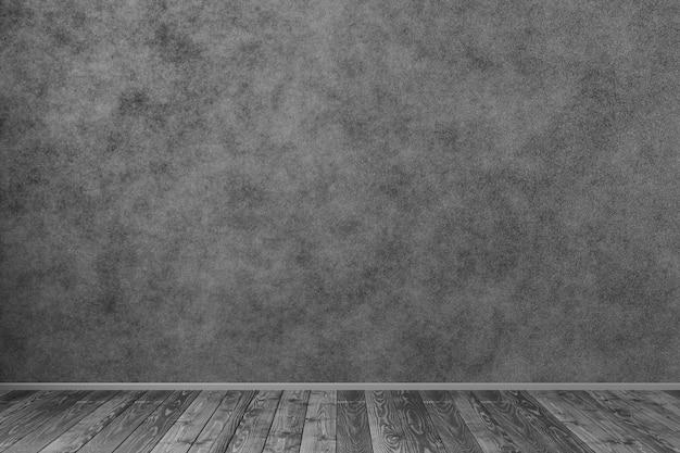 Design degli interni scuro. pavimento di legno. modello per il tuo design.