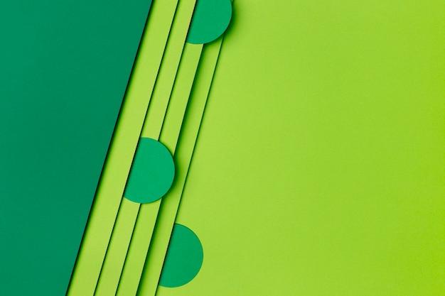 Sfondo di carta verde scuro e chiaro