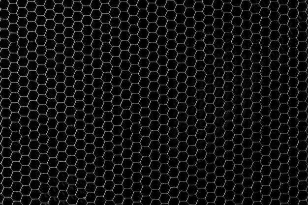 Sfondo di griglia a nido d'ape in metallo scuro