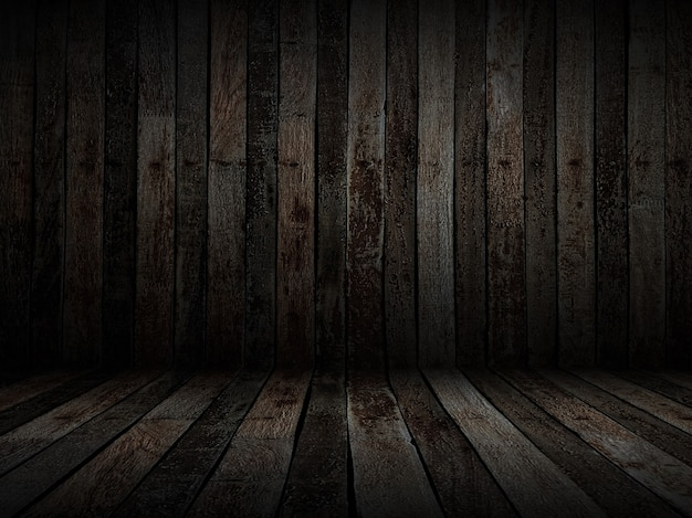 Fondo in legno vecchio scuro con nodi