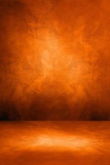 Fondo interno concreto arancio scuro. scena modello vuoto