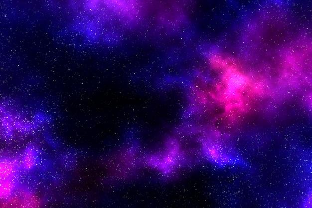 Illustrazione di sfondo con motivo galassia rosa scuro e viola