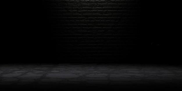 Stanza buia con pavimento grunge