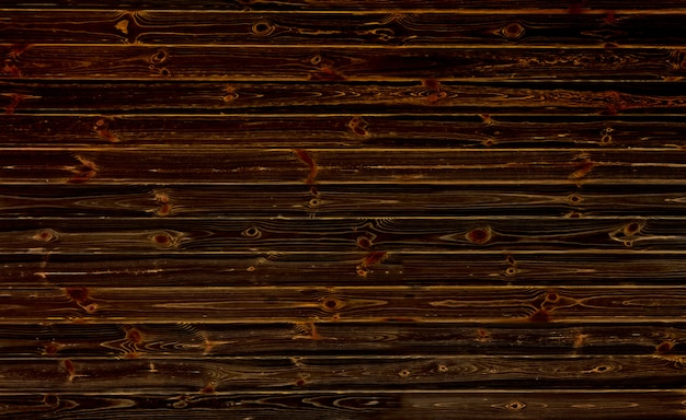 Parete in legno scuro