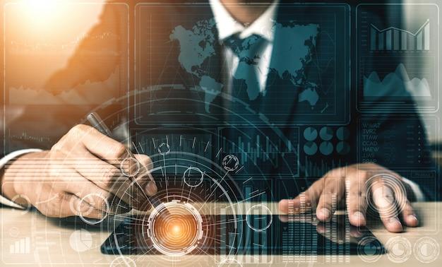 Analisi dei dati per il concetto di finanza e affari
