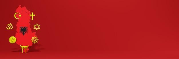 Dati sulla distribuzione della religione e sulla diversità del pluralismo in albania per le copertine dei siti web