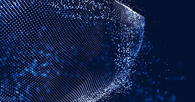 Illustrazione futuristica astratta di tecnologia di dati