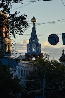 Alba per le strade di nizhny novgorod