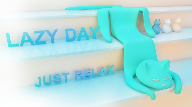 Un giorno per rilassare la mente e trovare la felicità lascia andare tutto il lavoroi gatti trasmettono relax