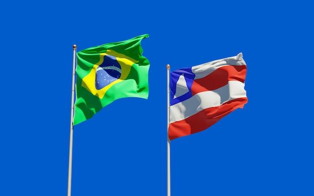 Bandiera dello stato del brasile di de bahia. grafica 3d