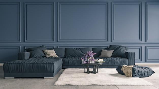 Sfondo decorativo per casa, ufficio e hotel. interior design moderno di struttura della parete e del salone