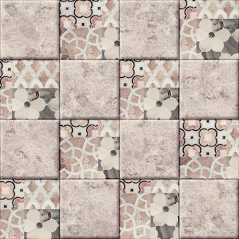 Piastrelle in ceramica decorativa con un motivo e una trama di marmo naturale. elemento per l'interior design. seamless texture di sfondo