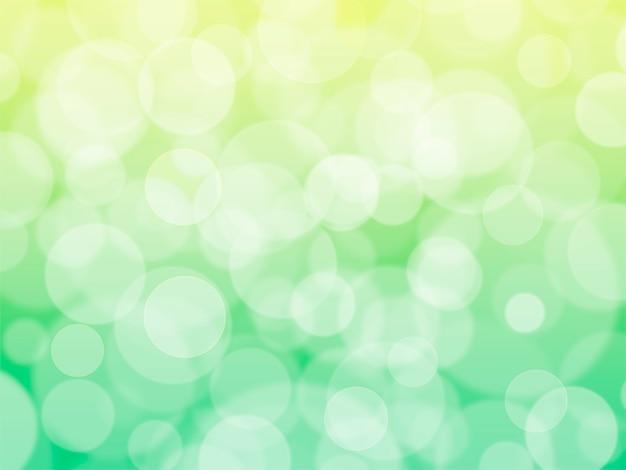 Sfondo verde festivo decorativo con bokeh. focalizzazione morbida.