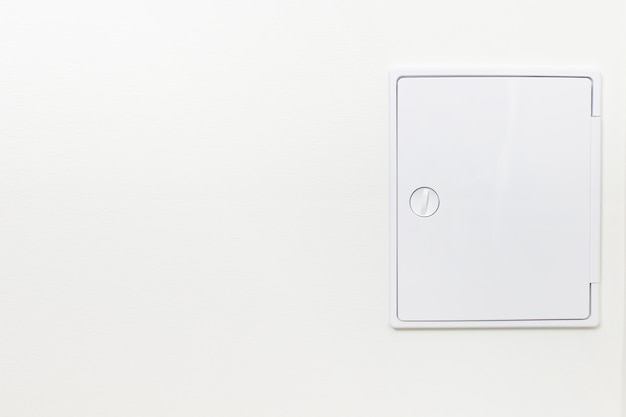 Botola decorativa per la comunicazione in bagno a parete. sportello sanitario di revisione nascosto.