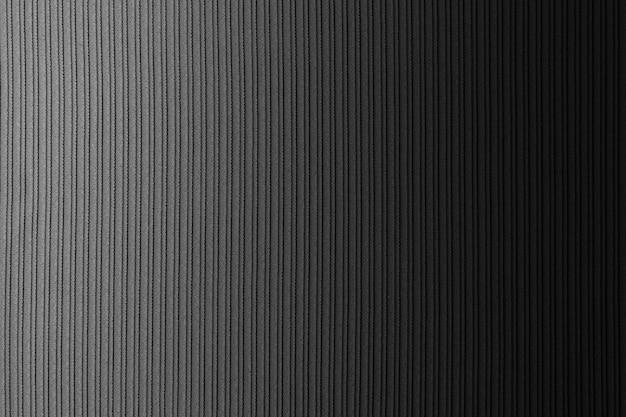 Spazio decorativo nero, colore bianco, gradiente orizzontale di struttura a strisce. sfondo. arte. design.