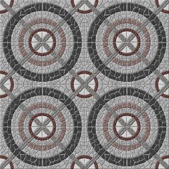 Mattonelle di pietra decorative. mosaico in granito naturale. , pavimento e pareti. trama di sfondo di pietra