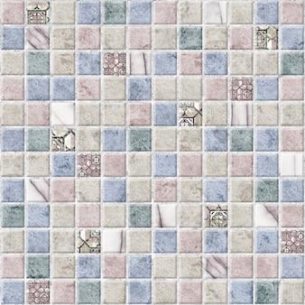 Piastrelle decorative con struttura in pietra naturale. mosaico per l'interior design. trama di sfondo