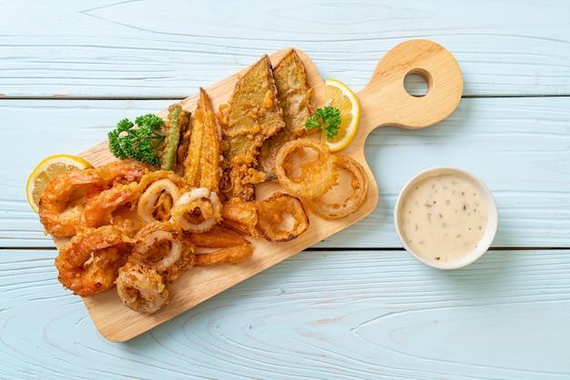 Frittura di mare con verdure miste